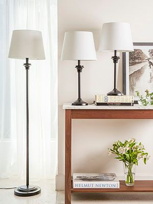 Lámparas de pie y escritorio