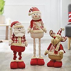 Muñecos flexibles navidad