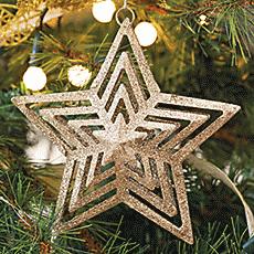 Estrella colgante geometrica