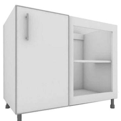 Bajomesada America II 0.98 Esquinero Blanco Aluminio