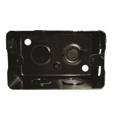 Caja rectangular 5x10 hierro negra