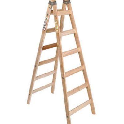 Escalera de Pintor Sin Fin Pino Brasil X 6 Escalones De Uso Profesional