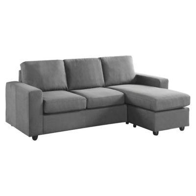 Sofa Esquinero Dion Gris Oscuro
