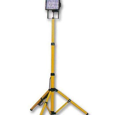Proyector Halógeno 1X500W C/Tripode Amarillo