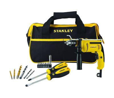 Taladro Percutor Stanley 700w 13mm Con Bolso y Herramientas