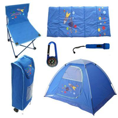 Set 6 Piezas Camping Celeste