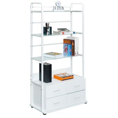 Librero 4 Cajones 80x40x150 Sky Blanco
